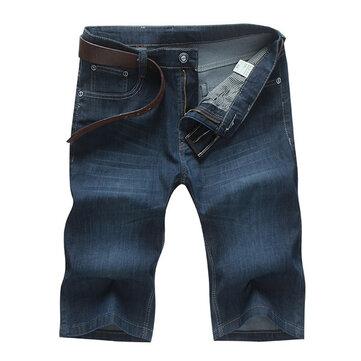 ग्रीष्मकालीन ब्लू जीन्स सीधे कट फैशन पुरुषों के शॉर्ट्स आकार 34-46