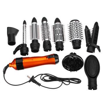 SURKER 1000W 220 V 240-240V Bàn chải tạo kiểu tóc 10 trong 1 Máy sấy tóc