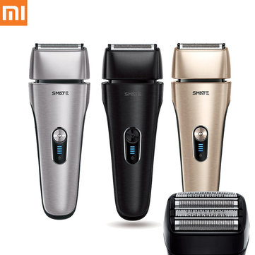 SMATE IPX7 Waterproof Fast Charging Electric Shaver 4 Shaver Blades System Low Noise from XIAOMI Ecosystem