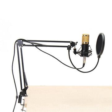 BM800 Condensatore Microfono Kit di sistema dinamico Staffa di montaggio a colpo Studio Pro