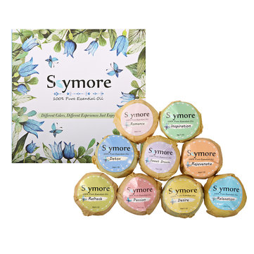 Skymore 9pcs Bath Bombs Gift Set Essential Oil Kit Moisturizing Organic Mother's Day Gift