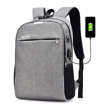 20L Anti-theft Men Laptop Notebook Backpack USB Charging Port School Bag With Password Lock