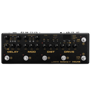 NUX Cerberus Multi Function Guitar Effect Pedal Integrated Controller with Three Main Effects Reverb