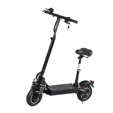 LAOTIE® ES10 2000W Dual Motor 23.4Ah 52V 10 Inches Folding Electric Scooter with Seat 70km_h Top Speed 80km Mileage Max Load 120kg