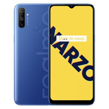 Realme Narzo 10A IN Version 6.5 inch 5000mAh Android 10 12MP AI Triple Camera 3GB 32GB Helio G70 4G Smartphone