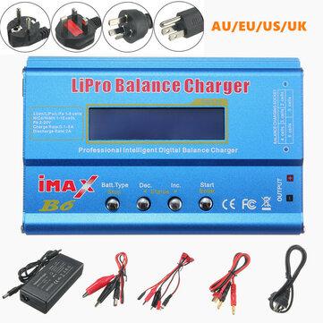 iMAX B6 80W 6A סוללה Lipo סוללה עם מתאם ספק כוח