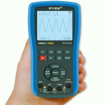 EONE ET310A 2 in 1 20MHz 80Msps Digital Handheld Storage Oscilloscope ScopeMeter True RMS Multimeter Automatic Measurement