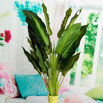 50cm realista hojas perennes flores de simulación de plantas artificiales decoración del hogar de la flor en maceta arbusto