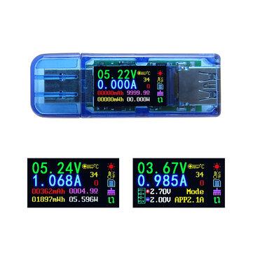 RUIDENG AT34 USB3.0 IPS HD Pantalla a color Tester USB Voltaje Capacidad actual Energía Potencia Equivalente impedancia Probador de temperatura 30.00V 4.000A