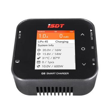 ISDT Q8 BattGo 500W 20A High Power Battery Balance Charger Discharger for 1-8S Lipo Battery