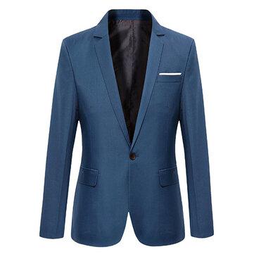 पुरुषों की आकस्मिक फैशन स्लिम फिट सूट जैकेट ब्लेज़र कोट 7 रंग