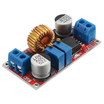 Output 1.25-36V 5A Constant Current Constant Voltage Lithium Battery Charger Power Supply Module LED Driver High Power Low Ripple High Efficiency Short Circuit Protection Function
