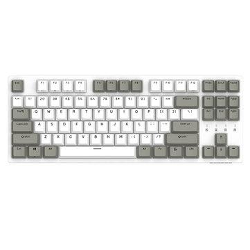 DURGOD K320 White Gray Cherry MX Switch PBT Keycaps Mechanical Gaming Keyboard