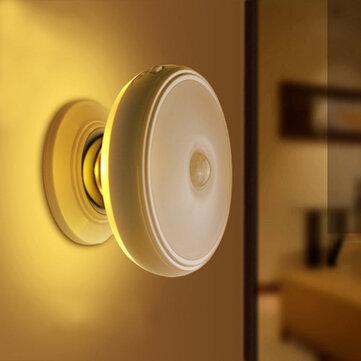 Loskii DX-004 360° Rotation Human Body Sensor LED Night Light Magnetic Holder USB Rechargeable Lamp