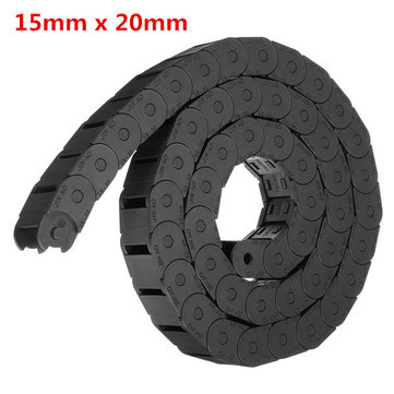15mm x 20mm R28 Plastic Cable Semi-closed Drag Chain Wire Carrier Length 1000mm