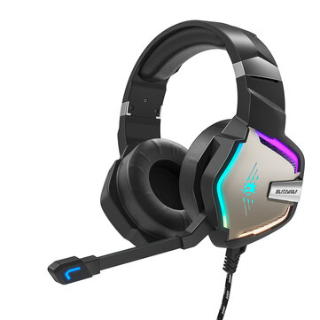 BlitzWolf BW GH1 Pro Gaming Headset 7.1 or 5.1 Virtual Surround Sound 50mm Dynamic Driver RGB LED Light for PS3 or 4 for Xbox PC Laptop