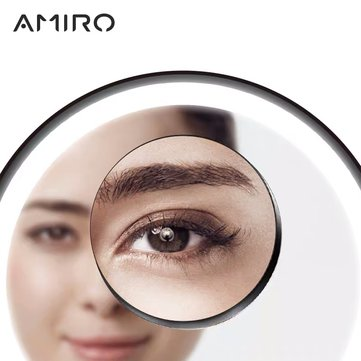 XIAOMI AMIRO 5-talsförstärkare Make Up Mirrors Mirror Facial Brush Cleansing Home Badrum