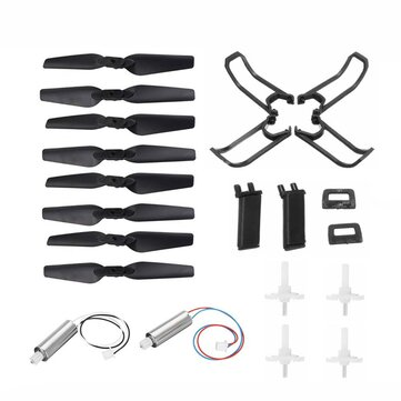 Eachine E58 RC Drone Quadcopter Spare Parts Crash Pack Kits Propeller Blade Set With Clip Motor Gear Props Guard