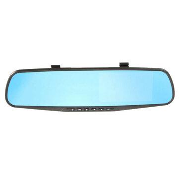 4.3-дюймовый HD 1080p камера видео рекордер вид сзади обратно задним ходом автомобиль зеркало камеры DVR