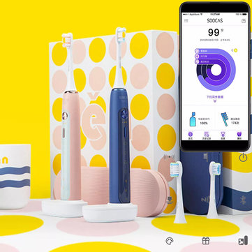 SOOCAS X5 Smart APP Electric Toothbrush Ultrasonic USB Wireless Charging Teeth Whitening Oral Hygiene Care from Xiaomi Ecosystem