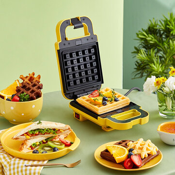 Buy LIVEN ZCJ SM132 600W Multifunctional Frying Baking Sandwich Waffle Machine Double Baking Tray Breafast Bread Maker Frying Egg Machine from Xiaomi Ecological Chain with 9 on Gipsybee.com