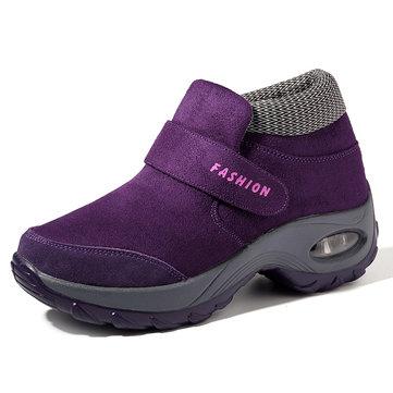 Large Size Women Casual Comfortable Hook Loop Sneakers
