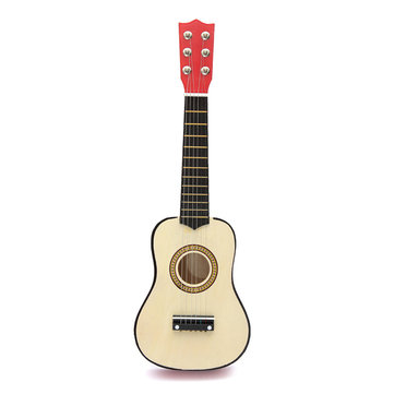 Beginner Acoustic Guitar with Pick and Steel String 21inch, Red 21 inch Mini 6-String Acoustic Guitar Bundle Kit Stringed Musical Instrument Bundle for Students Children Adult US STOCK
