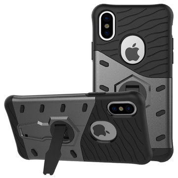 Armor Hybrid Color Rotating Kickstand Case For iPhone X