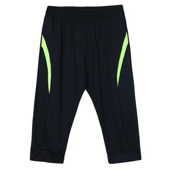 पुरुषों जिम फिटनेस व्यायाम खेल शॉर्ट्स आरामदायक क्रॉप पैंट चल रहा है