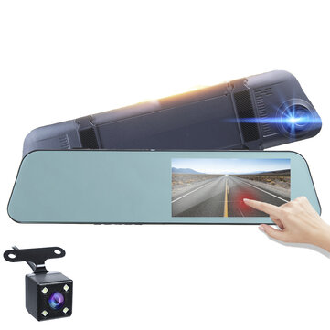 1080P HD 5.18Inch Touch Screen Dash Cam Car DVR Camera Recorder with Rearview Mirror for sale in Litecoin with Fast and Free Shipping on Gipsybee.com