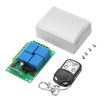 Geekcreit® DC 12V 4CH Channel Wireless Remote Control Switch Learning Type Relay Control Module With Case