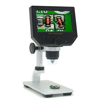 Mustool G600 Digital 1-600X 3.6MP 4.3inch HD Màn hình hiển thị LCD Kính hiển vi liên tục với giá đỡ hợp kim nhôm Phiên bản nâng cấp