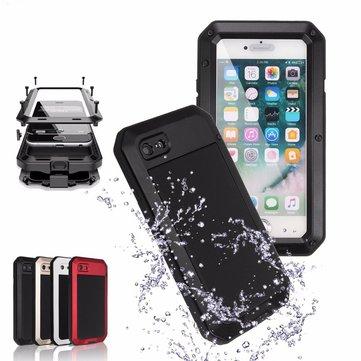 Aluminium + GEL + PE Vanntett støtdempende sak for iPhone 7 & 8