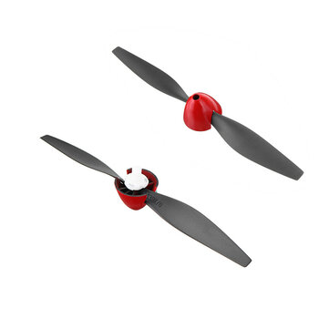 2pcs Eachine Mini Mustang P-51D RC Airplane Spare Part 130X70mm Propeller Set with 2pcs Propeller Protector Mount