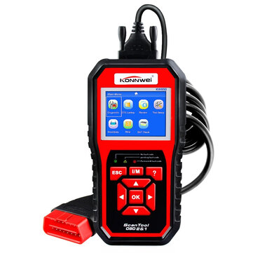 KONNWEI KW850 OBD2 Car Scan Diagnostic Tool EOBD Engine Fault Code Reader Multi-languages
