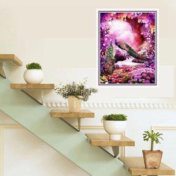5D Paw i Drzewo Kwiat Diament Rhinestone Haft Malarstwo Cross Stitch Home Decor