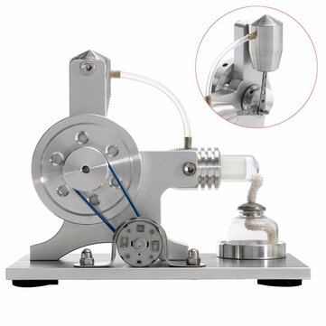 Stirling Engine Model Physical Motor Power Generator External Combustion Educational Toy