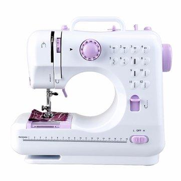 Fanghua 12 puntadas Mini máquina de coser doméstica 505A máquina de hacer punto portátil Multifunción Eléctrico Reemplazable Prensatelas Pie
