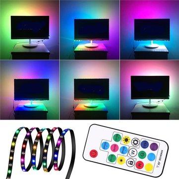 1M 2M 3M WS2812 SMD5050 Đen PCB Đèn LED không chống nước Đèn LED + 17 phím Điều khiển từ xa DC5V