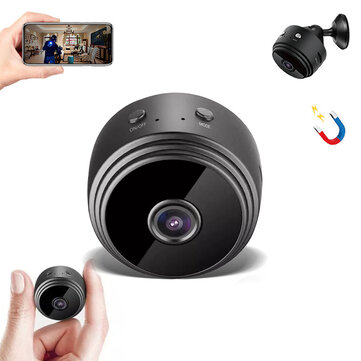 XIAOVV 1080P HD Mini WIFI AP IP Camera 150° Wide Angle Hotspot Connection Wireless DVR Night Vision Camcorder Camera Baby Monitor for Home Safety  Black
