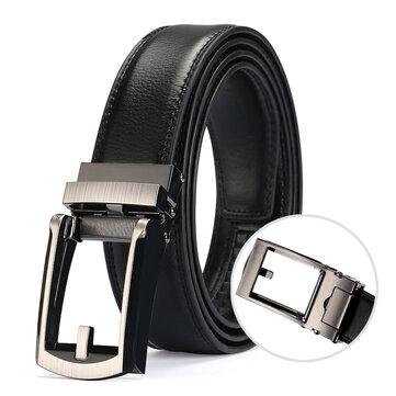 Men Outdoor Casual Leather Belt Dummy Needle Belt Automatic Buckle Belt