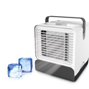 KCASA LFJ-08 Mini USB Cooling Fan Negative Ion Air Conditioning 150ML Night Light Fan Air Cooler Air Humidifier