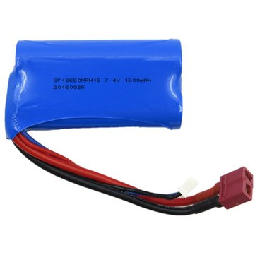 Wltoys 7.4V 1500mAh 15C 2S Lipo Battery T Plug for 12428 12423 A939 Rc Car Parts