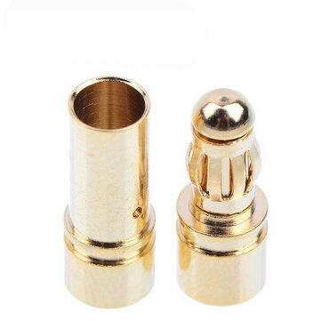 20 Pasang 3.5mm Gold Bullet Banana Konektor Plug Pria & Wanita Untuk ESC Baterai Motor