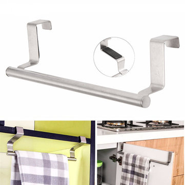 23cm Towel Bar Bathroom Kitchen Towel Rack Single Layer Over Door Cupboard  Hanger Hotel Bath Stainless Steel Towel Holder