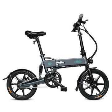 [EU Direct] FIIDO D2 7.8Ah 36V 250W 16 Inches Folding Moped Bicycle 25km/h Max 50KM Mileage Electric Bike - Gray