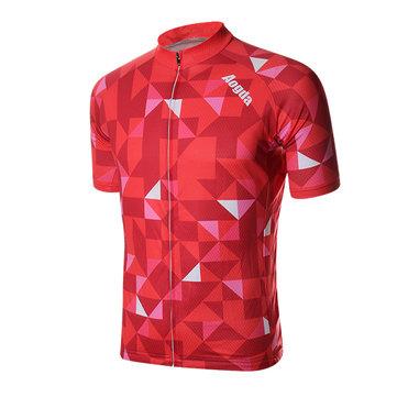 Mens Cycling Jersey MTB bicicleta de ciclo de manga corta de elasticidad de poliéster transpirable de secado rápido