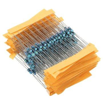 300Pcs 1% 1/4W Metal Film Resistor Resistance 30 Values Assortment Kit
