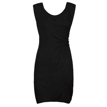 Sexy Women Ruffle Sleeveless V Neck Bodycon Clubwear Party Mini Dress