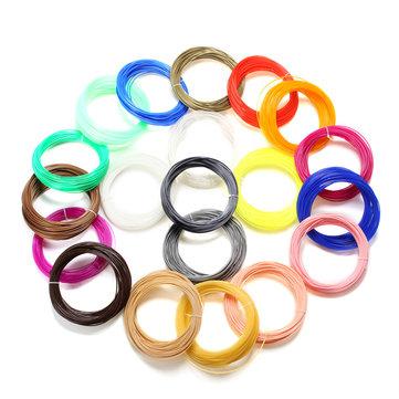 20Pcs 22M PLA 3D Printer Accessories Filament 1.75mm 20 Color Sample Pack 3D Pen Filament Refills
